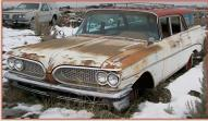 1959 Pontiac Catalina Safari 9 Passenger Station Wagon For Sale $5,500 left front view