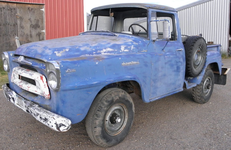 1958 IHC International Series A 120 3 4 Ton 4X4 Stepside Pickup Truck For