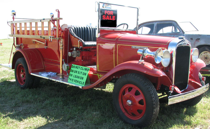 fire pumper engine very nice recent restoration for sale $22,000