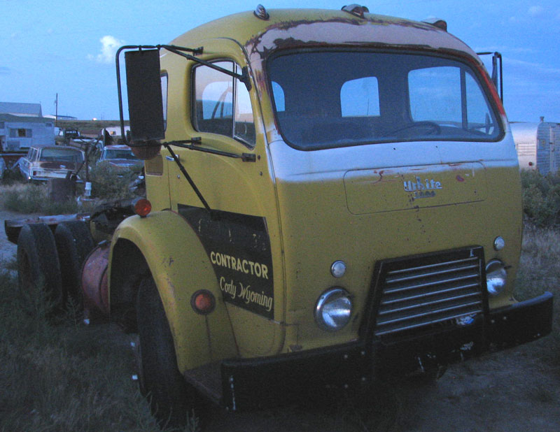 1951 White Model 3000 COE cab-over-engine SWB semi truck for sale $