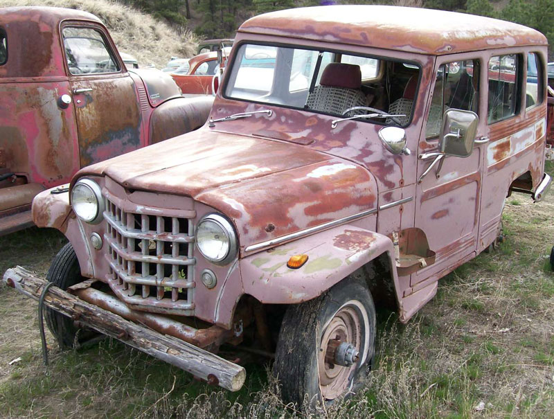 Willys Jeep 4X4 Utility wagon with 283 CID Chevy V-8 for sale $2,800