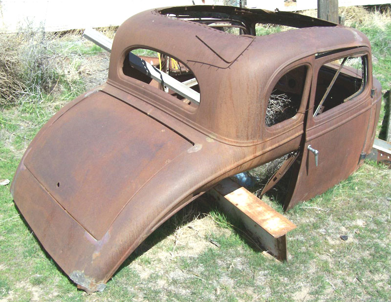 1935 Chevy Standard 5 Window Coupe Right Rear View