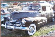 1947 Buick Roadmaster Flxible hearse front left view for sale $7,500