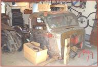 1940 Chevy Model KC 1/2 ton pickup truck after dismantling right front view