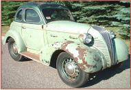 1937 Brauks 8 custom Terraplane/DeSoto 5 window hot rod coupe right front view for sale $70,000