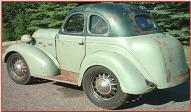1937 Brauks 8 custom Terraplane/DeSoto 5 window hot rod coupe left rear view for sale $70,000