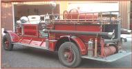 1927 Ahrens-Fox N-S-4 Fire Pumper Engine left rear view for sale $67,000