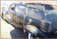 1947 Buick Roadmaster Flxible hearse left rear view for sale $7,500