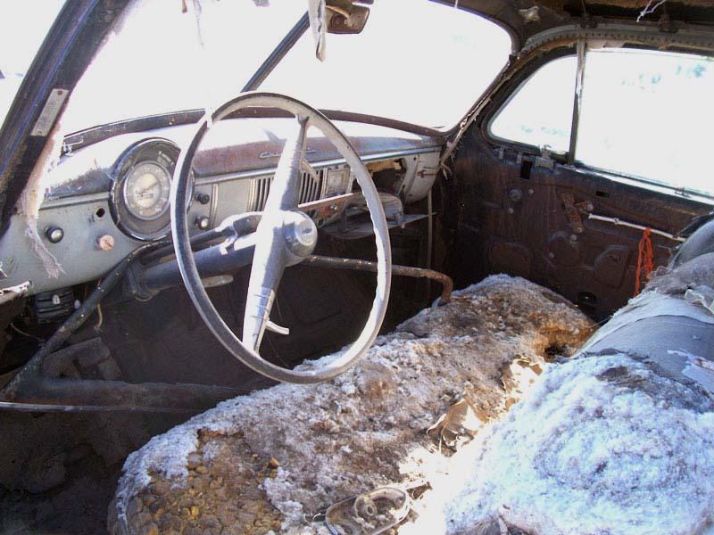 1950 Chevrolet Fleetline Deluxe 2 Door Fastback Sedan Left Front Interior View