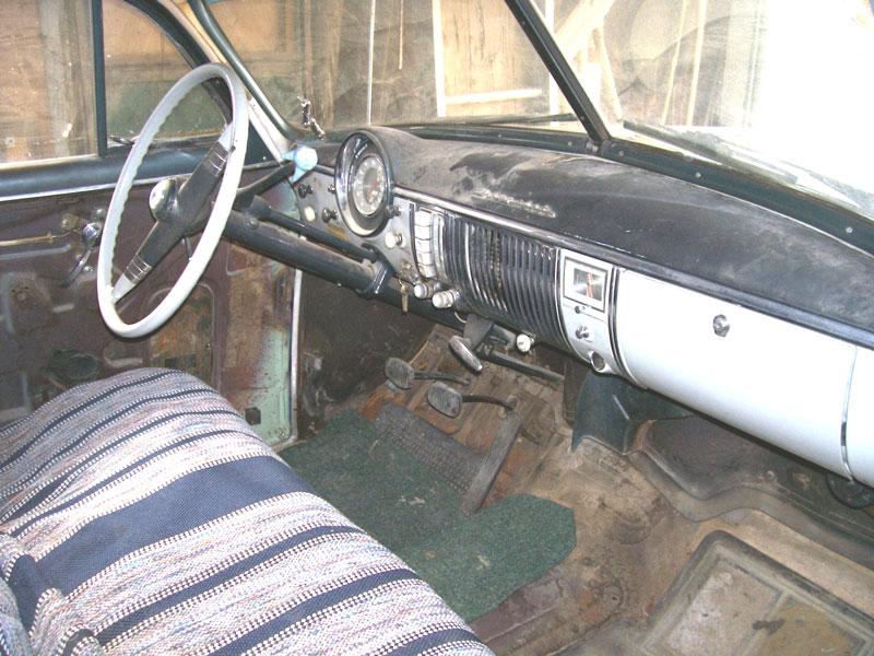 1950 Chevrolet Styleline Deluxe 4 Door Sedan Right Front Interior View