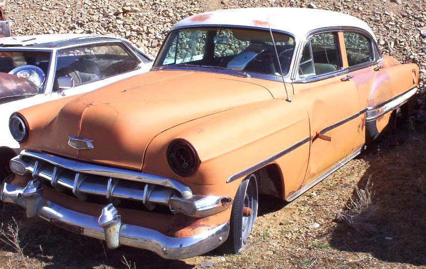 1954 chevrolet bel air 4 door sedan orange for sale for 1954 chevrolet bel air 4 door