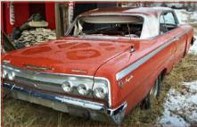 1962 Chevrolet Impala SS Super Sport 2 Door Hardtop right rear view