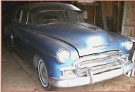 1950 Chevrolet Styleline Deluxe 4 door sedan right front view