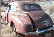 1948 Chevy Fleetmaster Six 2 door Town Sedan left rear view