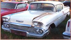 1958 Chevy Biscayne 2 door post sedan left front view