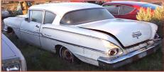 1958 Chevy Biscayne 2 door post sedan left rear view