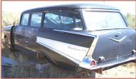 1957 Chevy Bel Air 4 door station wagon left rear view.
