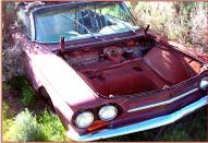 1963 Chevy Corvair 900 Series Monza convertible right front view