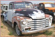 1951 Chevy Series 3100 5 window 1/2 ton pickup truck right front view