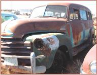 1953 Chevy Series 3100 1/2 Ton Suburban van truck left front view