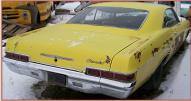 1966 Chevrolet Impala 2 Door Hardtop Yellow For Sale $4,500 right rear view