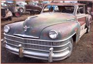 1947 Chrysler New Yroker Town & Country 4 door woody sedan car #1 left front view