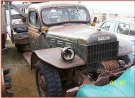 1947 Dodge WDX Power Wagon one ton flatbed truck right front view