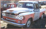 1960 Dodge Sweptline model P6 D100 2x4 1/2 ton pickup truck left front view