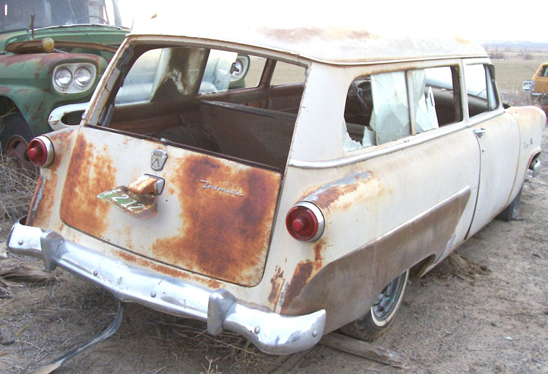 1953 Ford Mainline Ranch Wagon 2 Door Station Right Rear View