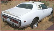 1973 Dodge Charger SE Brougham 2 door hardtop post with 440 COD V-8 right rear view