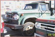1966 Dodge W500 Power Wagon 4X4 2 ton flatbed truck front left view for sale $4,500
