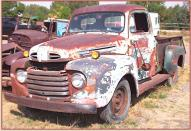 1950 Ford F-2 3/4 ton pickup truck left front view
