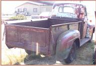 1950 Ford F-2 3/4 ton pickup truck right rear view