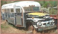 1951 Ford F-5 18 passenger school bus RV conversion left front view