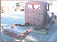 1935 Ford V-8 50 model 830 1/2 ton pickup truck cab and chassis right rear view