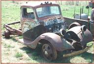 1936 Ford 1 1/2 ton truck with 2 speed Eation differential right front view for sale $6,000