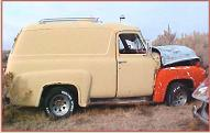 1955 Ford F-100 1/2 ton panel delivery truck for sale $4,500 right side view