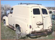 1955 Ford F-100 1/2 ton panel delivery truck for sale $4,500 left rear view