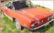 1974 Fiat Type 124 1800 Spider Roadster Convertible left rear view