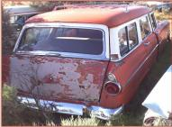 1955 Ford Country Sedan 6 passenger 4 door station wagon right rear view