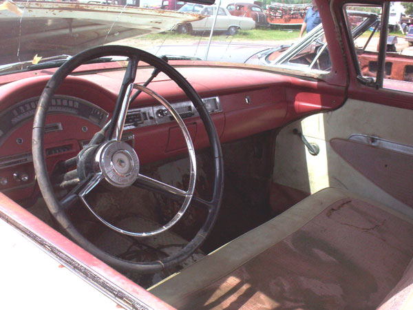 1957 ford custom ranchero 12 ton car pickup left interior view