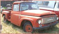 1965 IHC International D-1000 1/2 Ton Fenderside Pickup Truck right front view