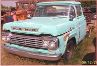 1959 Ford F-100 Custom Cab 1/2 ton SWB truck left front view