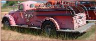 1949 IHC International Series KB-12 fire pumper engine left rear view
